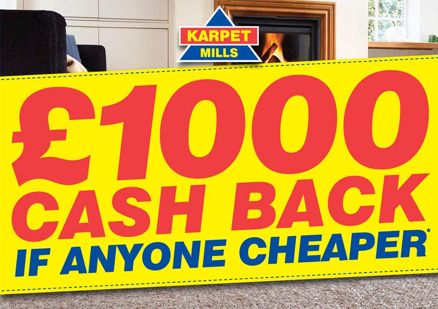 £1000 Price Back Guarantee