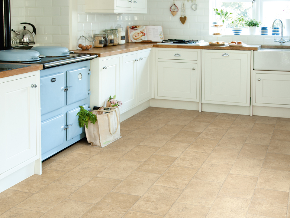Avenue Kitchen Vinyl French Limestone